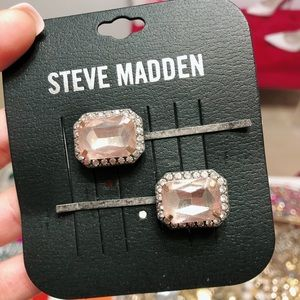 Steve Madden Pink and Silver Hair Clips